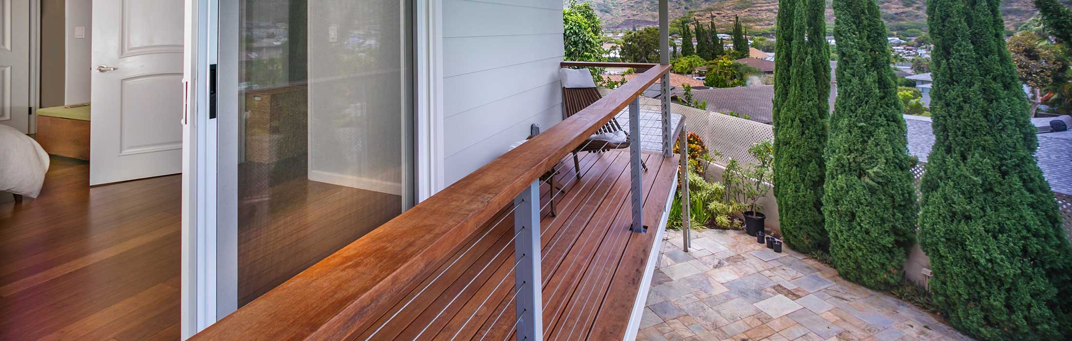 image of decking on home