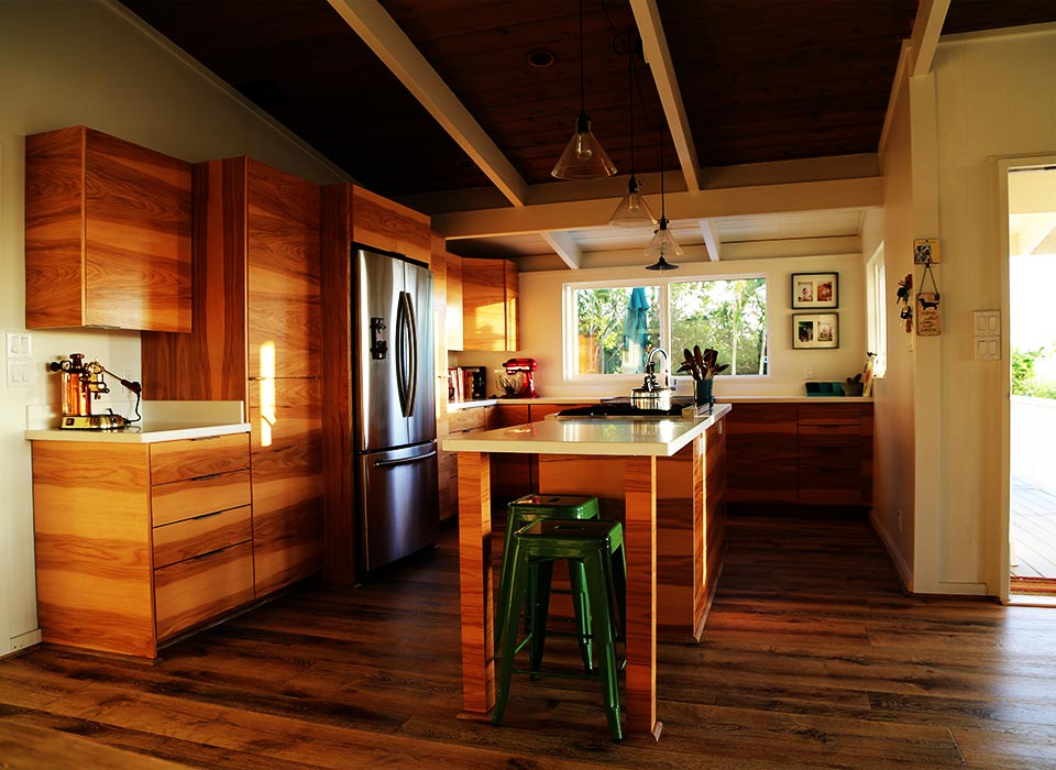 image of remodeled kitchen in hale koa home.